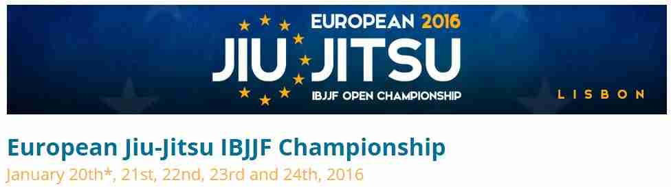 Izvještaj s IBJJF European championship-a